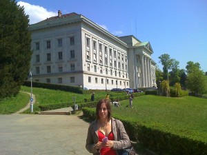 Dans le parc de Lausanne avec Sarah