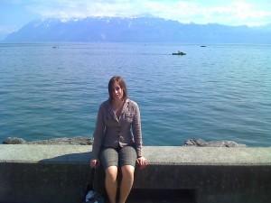 Lausanne au bord du lac Leman avec Sarah
