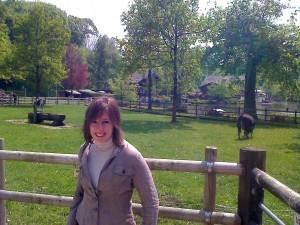 Lausanne parc animaux avec Sarah
