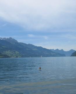 lac de Walensee en Suisse