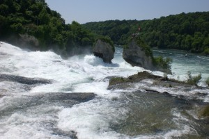 chute du Rhin depuis le haut de la chute