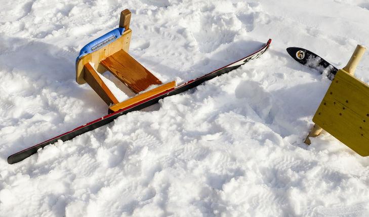 Böckl, luge sur un ski