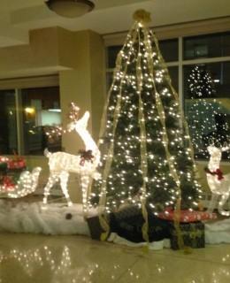 décoration de Noël dans une résidence à Brooklyn