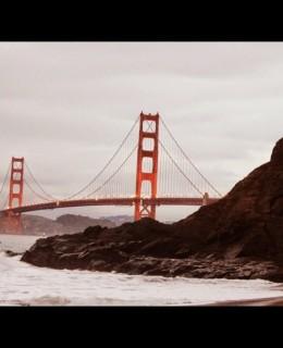 Golden Gate Bridge de San Francisco, de la plage Baker beach