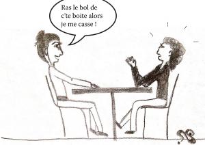 dessin comique, entretien pour une démission