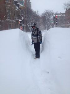 Plus de 1 mètre de neige dans les rues, trottoirs impraticables