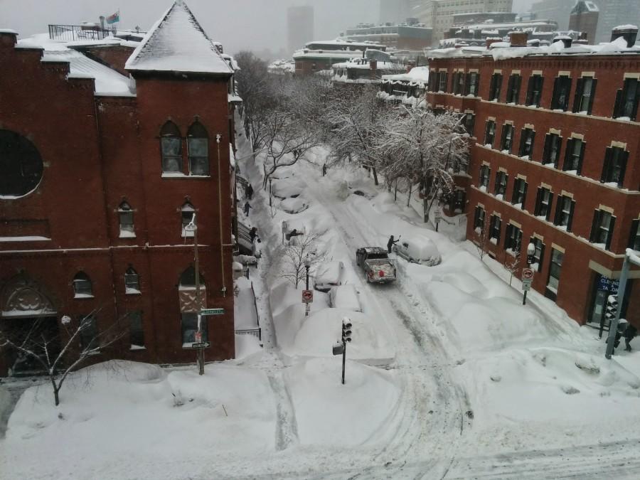 apres tempete neige boston