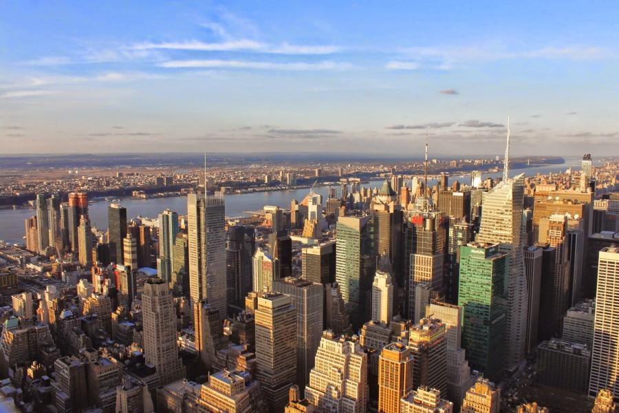 Vue sur le Nord Ouest de Manhattan de jour depuis l'Empire State Building