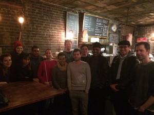groupe meetup à Black Brick Coffee à Williamsburg