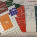 la carte des différents quartier de Tulsa centre, Oklahoma