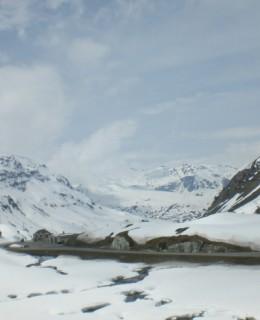 neige éternelle montagne Suisse à Saint Moritz