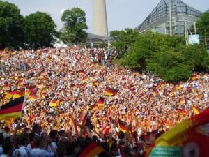 dans la rue pendant la coupe du monde de football 2006 en Allemagne