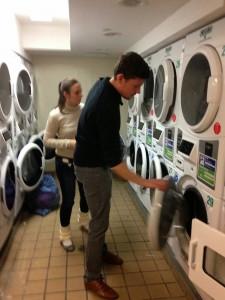 la laverie dans l'immeuble aux Etats-Unis