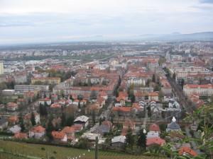 vue sur Maribor de Pyramida