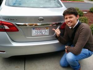 plaque voiture Californie