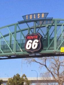 la route 66 à Tulsa, Oklahoma