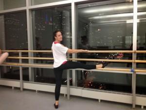 Sarah au cours de danse au centre Alvin Ailey