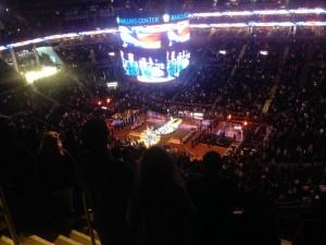 match de basket au Barclays center Nets vs Lakers