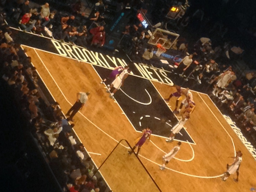 match des Nets vs Lakers