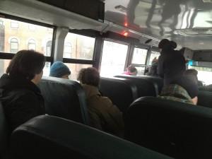 dans le bus d'école américain
