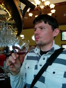 Maxime en dégustation à Schnebly winery