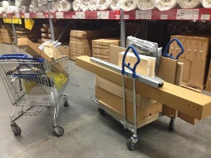 meubler un appartement à Brooklyn, meubles en kit au magasin Ikea
