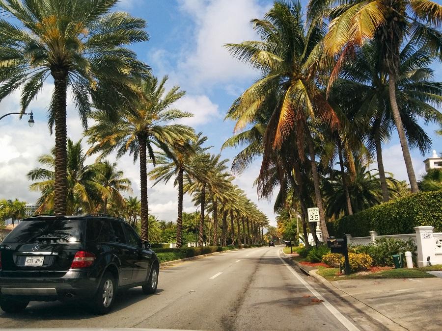sur la route pour Miami Beach