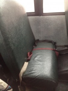 les banquettes du bus d'école américain