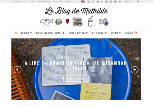 blog de mathilde screenshot