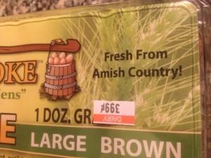 une boite à œufs qui vient des Amish, USA