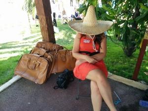 moi sous un chapeau mexicain