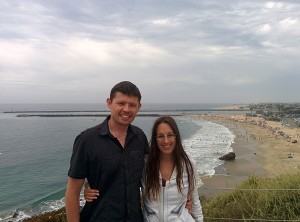 Maxime et Sarah à Newport beach, Los Angeles