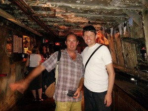 Maxime et Thierry dans le bateau de Frying Pan