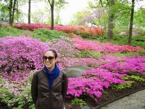 Sarah au Botanical garden of NY, dans le Bronx