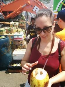 au marché Sporgasburg, avec une coconut