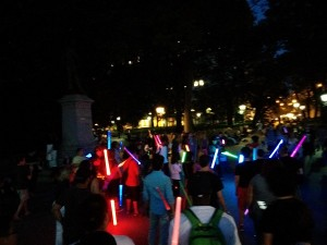 bataille star wars à Washington Square Park