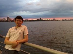 Maxime et le coucher du soleil