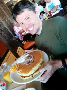 énormes pancakes