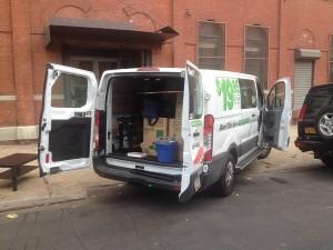 le van 9 feet que nous avons loué pour le déménagement
