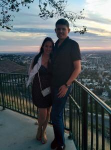 Sarah et Maxime sur Orange hill, surplombant le Orange County