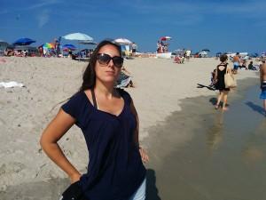 Sarah à la plage, NJ