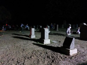 Halloween dans un cimetière américain