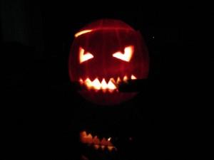 citrouille diabolique pour Halloween
