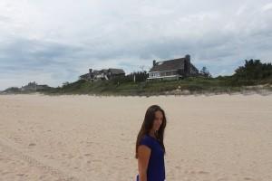 la plage de East Hampton, avec ses maisons