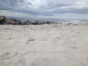 la plage de Long Beach, en Long Island, NY