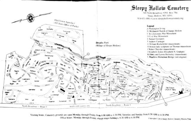 le plan du cimetière de sleepy hollow