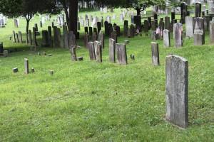 l'intérieur du cimetière de Sleepy Hollow
