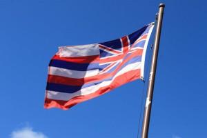 Big Island, drapeau, Hawaii