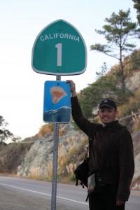 route le long de la côte du pacifique highway 1 de San Franscisco à Los Angeles panneau highway 1