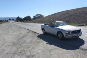 route le long de la côte du pacifique highway 1 de San Franscisco à Los Angeles Mustang